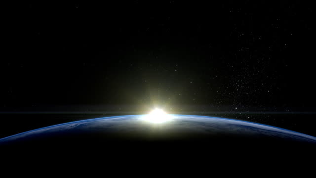 Sunrise over the Earth. View from space. FullHD. video