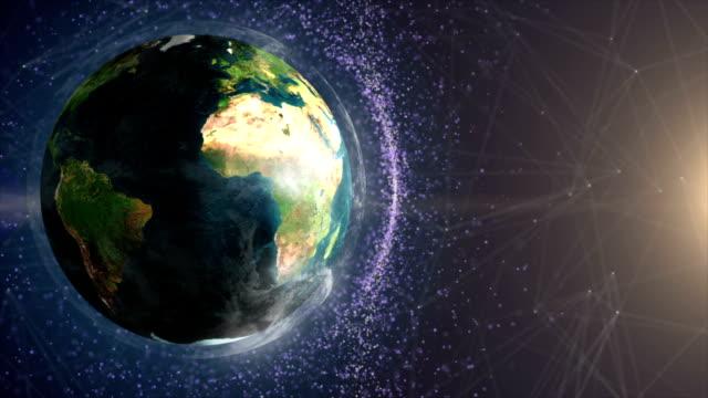 stockvideo's en b-roll-footage met zonsopgang boven de hele wereld - ozonlaag