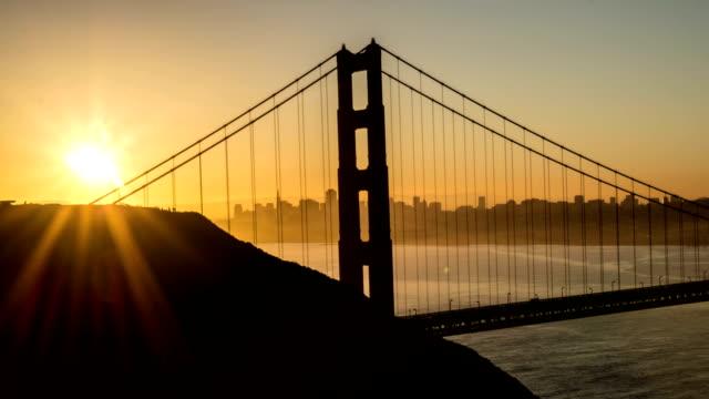 Sunrise over the Golden Gate Bridge San Francisco Time Lapse video
