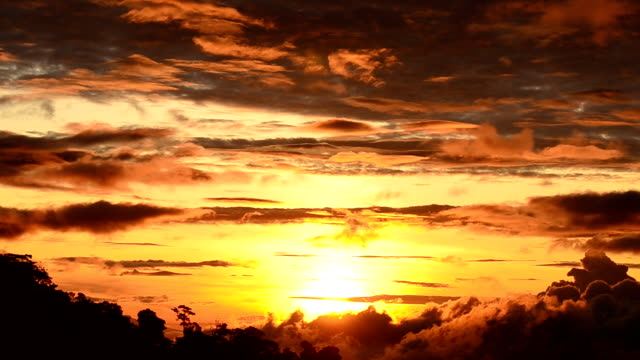 Sunrise over the mountain video