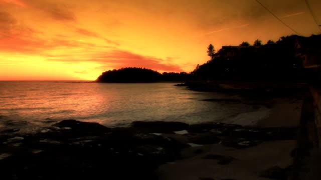 Sunrise over the Ocean HD video