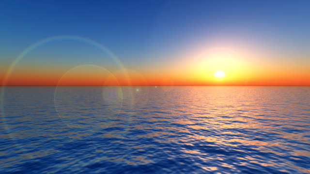 Sunrise over the ocean video