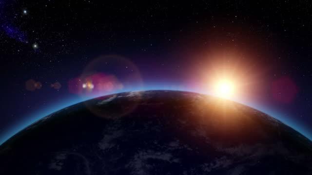 Sunrise over the oceans video