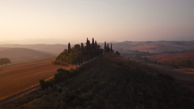 Sunrise over Val d'Orcia video