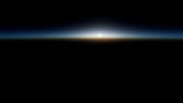 Sunrise seen from space video