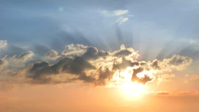 Sunrise, sky, clouds. video