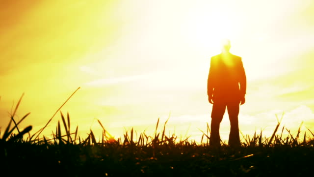 Sunrise Sunset Freedom Man Arms Outstretched Summer Nature video