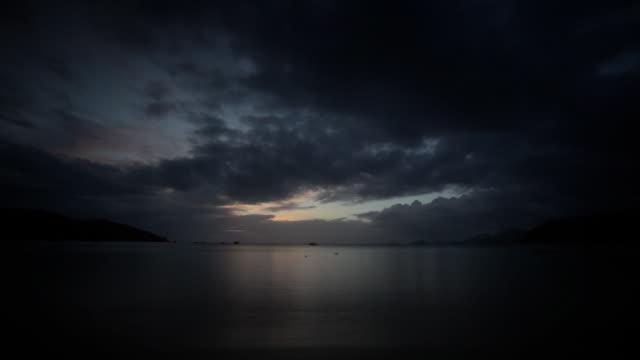Sunrise. Time lapse video