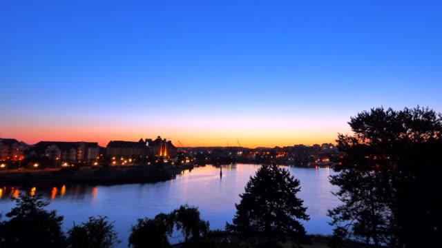 Sunrise Time-Lapse Morning, Sun in Sky, Victoria BC Canada video