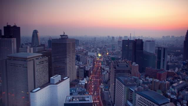 日の出の景色東京 4 k - 朝日点の映像素材/bロール