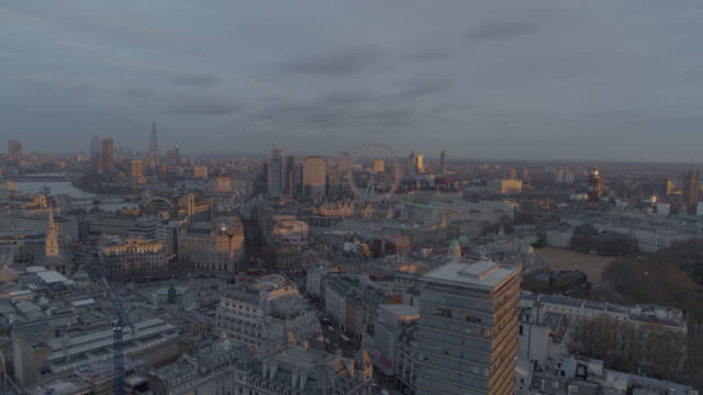 Sunset Aerial Views of London