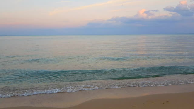 sunset and beach Soft Wave Of Blue Ocean On Sandy Beach provence alpes cote d'azur stock videos & royalty-free footage
