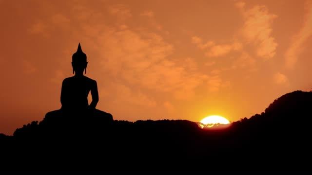 Sunset and Buddha video