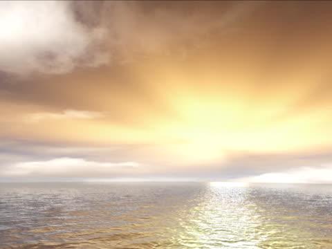 zachód słońca i spokojne morze - opis fizyczny filmów i materiałów b-roll