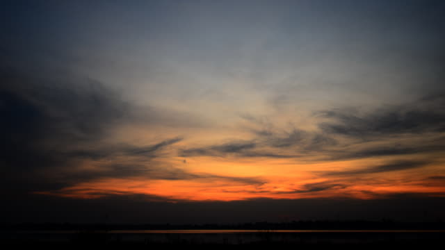 Sunset and clouds at lake Time lapse, Dramatic sunset and clouds at lake (HD.) sunset to night time lapse stock videos & royalty-free footage