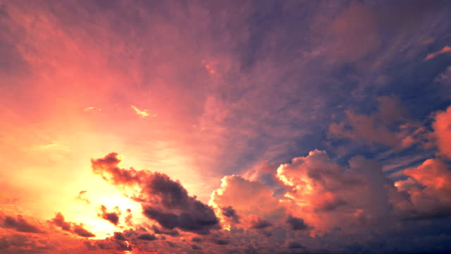 sunset and cloudscape moving - sunset stock videos & royalty-free footage