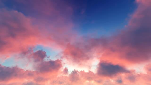Time Lapse Wolken und Sonnenuntergang – Video