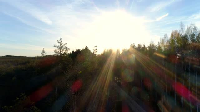 vídeos de stock, filmes e b-roll de pôr do sol em uma mola na letónia - países bálticos