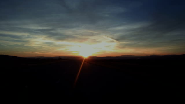 sunset at air strip video