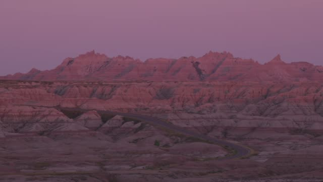 Sunset at Badlands National Park, South Dakota video