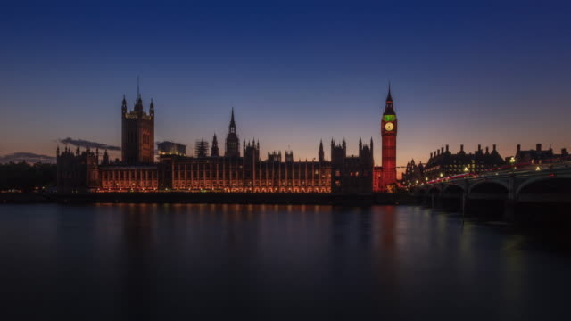 Sunset at Big Ben day to night, London video