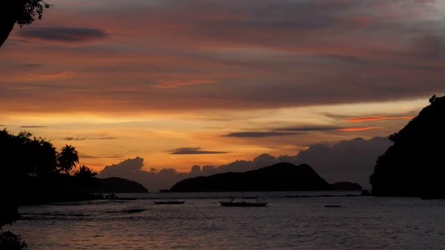 Sunset at Corong-Corong beach, Philippines video