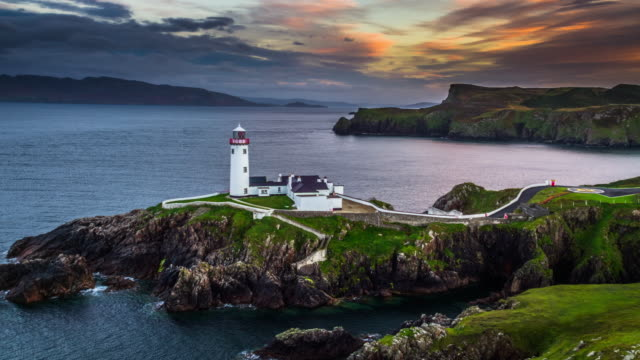 Sonnenuntergang am Fanad Head Lighthouse, County Donegal in Irland – Video