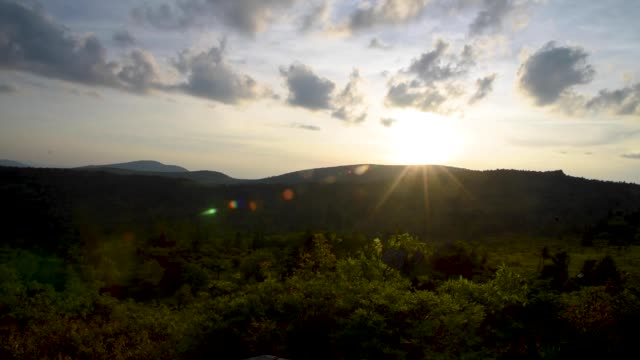 Sunset at Grayson Highlands State Park in Virginia in the United States