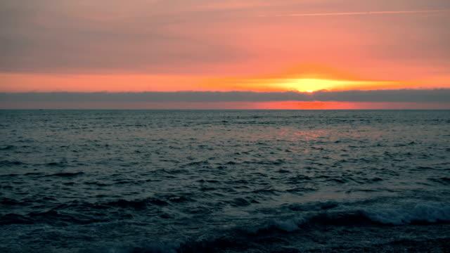 Sunset at Lima Peru costa verde beach video