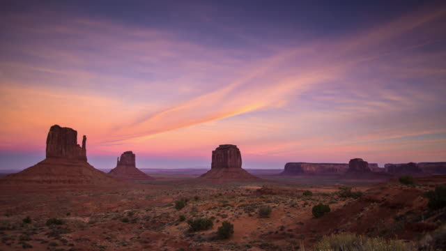 Sunset at Monument Valley - Time Lapse video