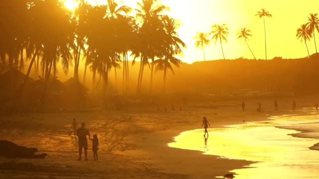 Sunset at Nacpan beach, Philippines video