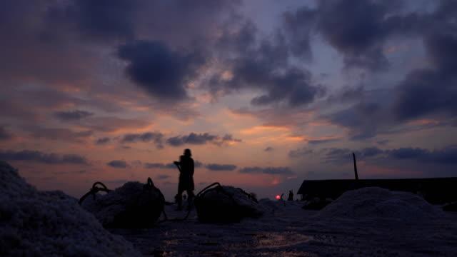 Sunset at Salt farming