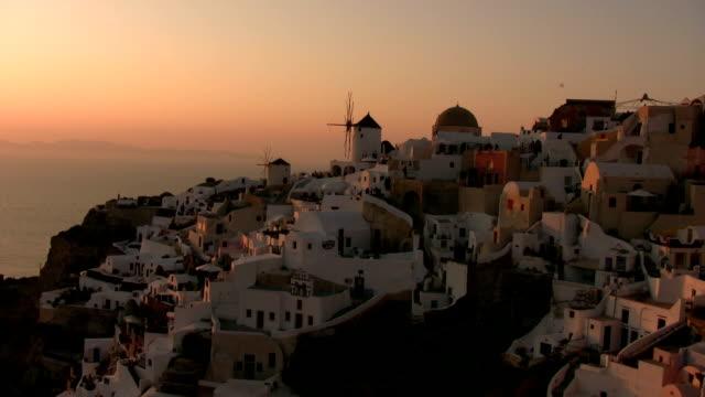 Sunset at Santorini video