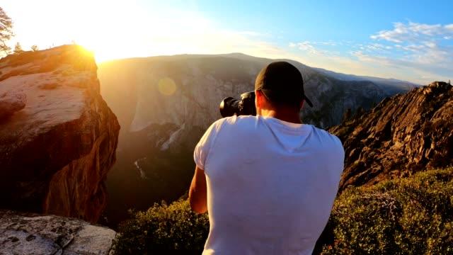 sunset at the yosemite national park - taft point