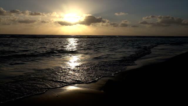 Sunset Behind Clouds Over Mediterranean video