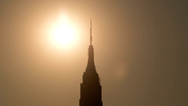 Sunset Behind the Empire State Building video