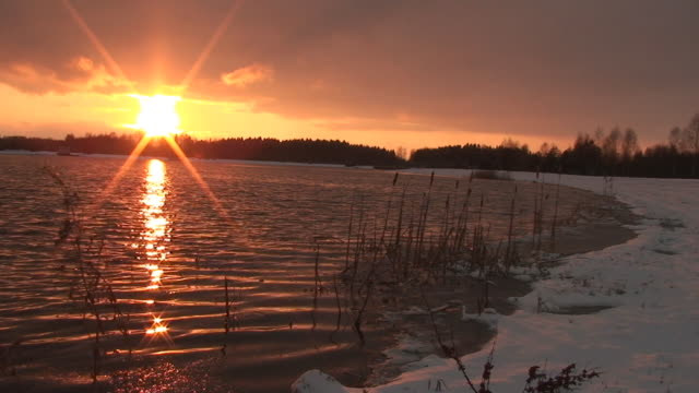 Sunset by Lake video