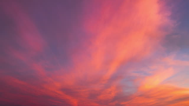 sunset cloud - różowy filmów i materiałów b-roll