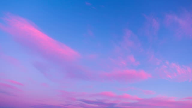 Sunset clouds, time-lapse Sunset clouds, time-lapse pink color stock videos & royalty-free footage