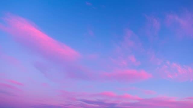 solnedgång moln, time-lapse - rosa bildbanksvideor och videomaterial från bakom kulisserna