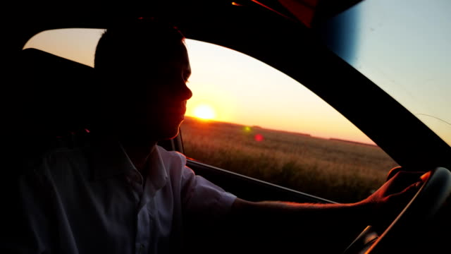 Sunset Drive. Car Driving video