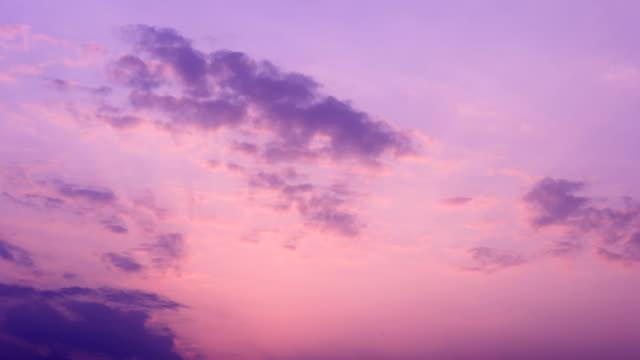 Sunset glow moving dusk sky 4K Time Lapse Video