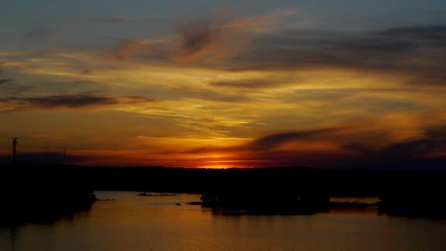 Sunset in archipelago video