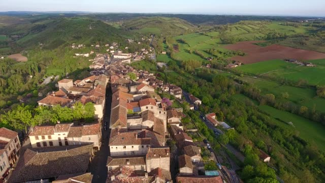 Sunset in Cordes sur Ciel, a french small medieval city Sunset in Cordes sur Ciel, a small medieval city on a hill in Southern France, near Albi and Toulouse provence alpes cote d'azur stock videos & royalty-free footage