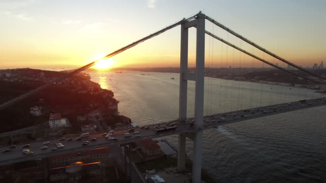 Sunset In Istanbul Bosphorus video