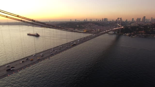 Sunset In Istanbul Bosphorus Flying over Istanbul Bosphorus istanbul stock videos & royalty-free footage