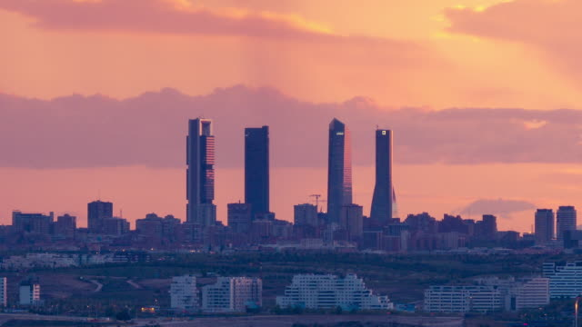 sunset in madrid barajas airport - madrid video stock e b–roll