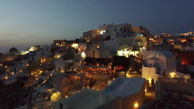 Sunset in Oia Santorini video