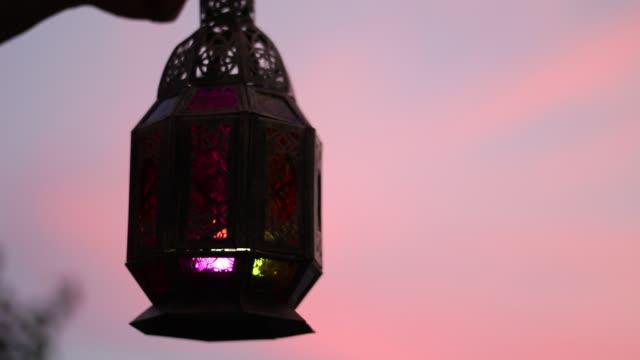 solnedgång i ramadan - ramadan lykta bildbanksvideor och videomaterial från bakom kulisserna