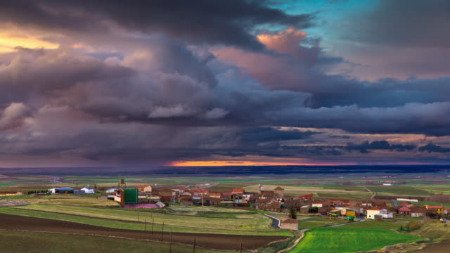 Sunset in Rural Spain - Time Lapse video